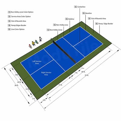 outdoor pickleball court markers