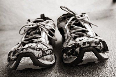 worn out pickleball shoes
